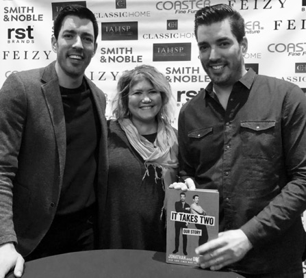 Sandra Racz and The Property Brothers in Charlotte